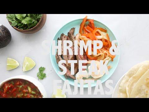 Shrimp and Steak Fajitas