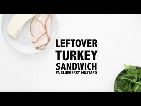 Turkey and Brie Sandwich with Wild Blueberry Mustard