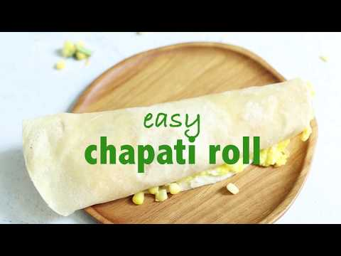 Chapati Roll with Egg & Vegetables