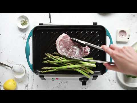 Grilled Lamb Steak with Asparagus