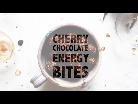 Cherry Chocolate Energy Bites