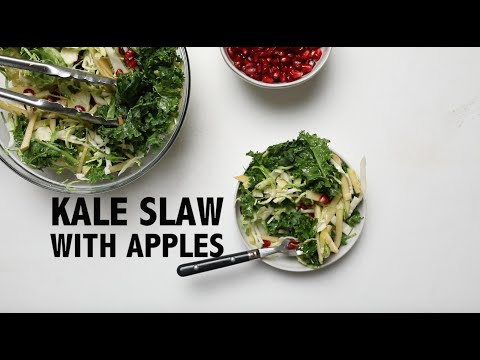 Holiday Kale and Apple Slaw