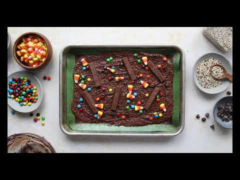Chocolate Halloween Bark with Crunchy Quinoa