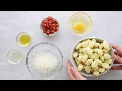 Gnocchi Carbonara
