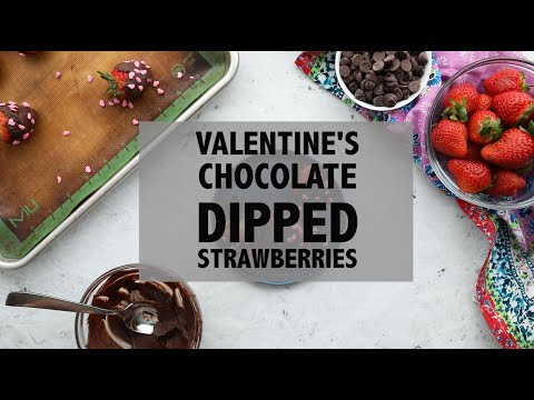 Valentine's Day Strawberries with Chocolate