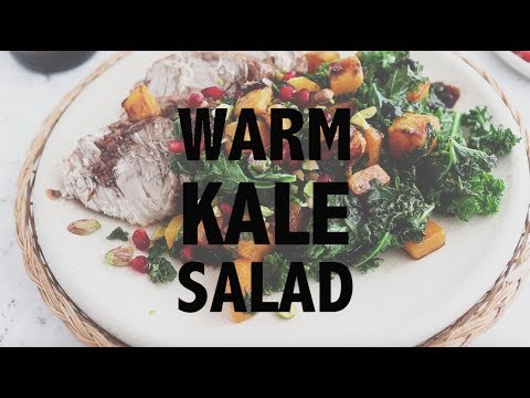 Warm Salad with Pomegranate Balsamic Dressing