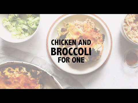 Chicken & Broccoli Casserole for One