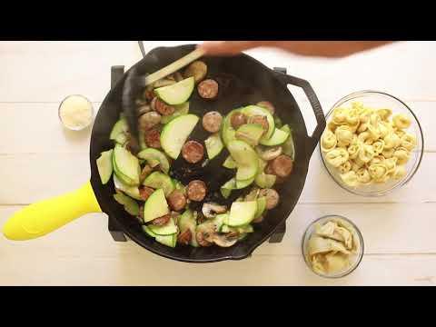 Sausage and artichoke tortellini recipe video