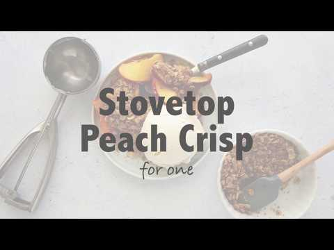 Stovetop Peach Crumble for One