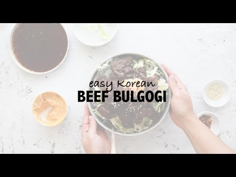 Easy Korean Beef Bulgogi