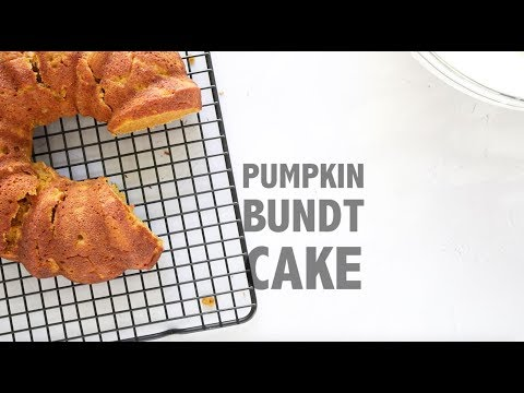 Easy Pumpkin Bundt Cake with Cream Cheese Whipped Cream