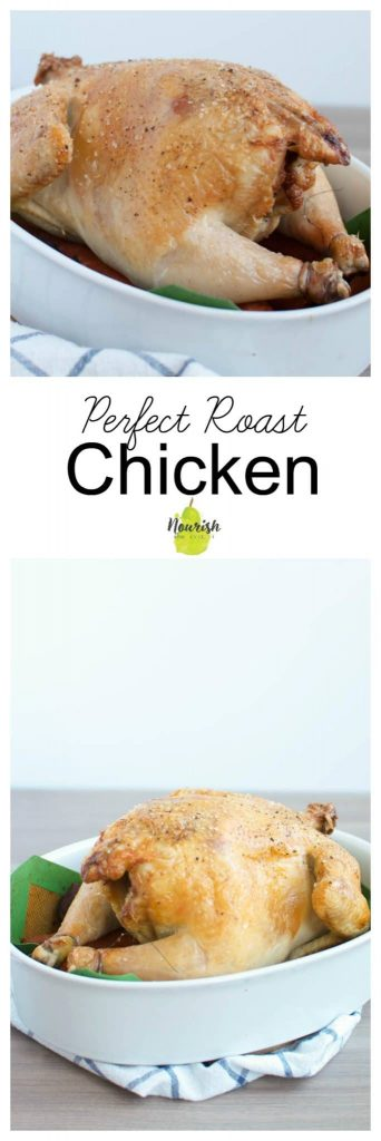 Perfect Roast Chicken with text overlay