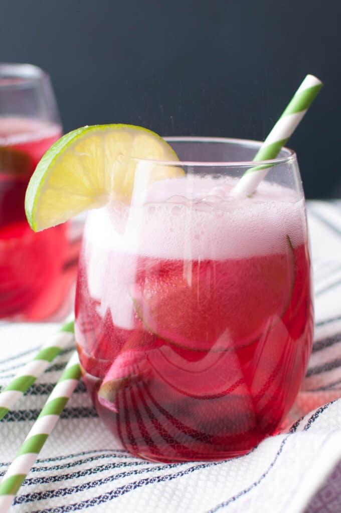 3 Ingredient Grape Soda in Glass
