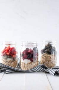 Overnight Oats in Jars 3 Ways