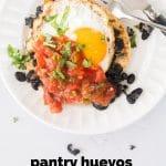 Easy Huevos Rancheros step by step ingredient progression
