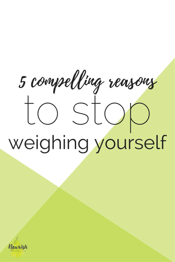 5 compelling reasons to stop weighing yourself text overlay