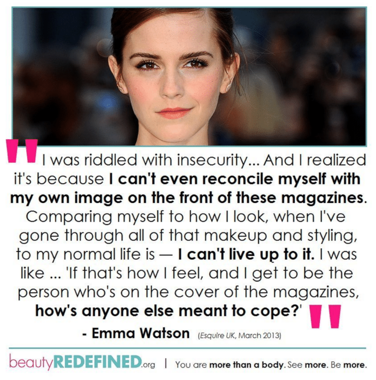 photo of Emma Watson with text below it