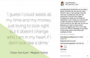 meghan trainor song lyrics on Instagram post
