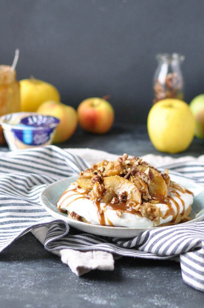 Easy No Bake Apple Tart with a Yogurt Filling with Ingredients