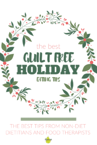 Ultimate Guide to Guilt Free Holiday Eating text