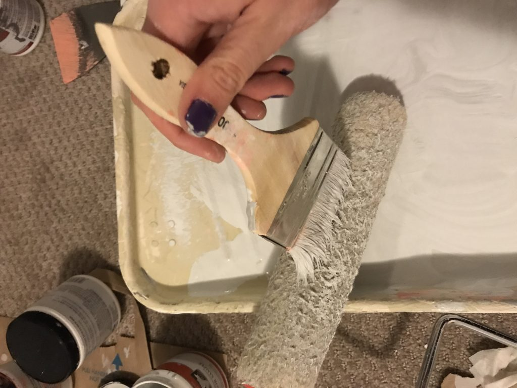 painting a paint roller
