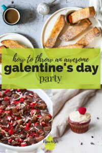 valentines day recipes with text overlay