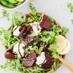 beet and arugula salad on a plate