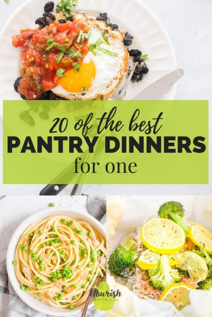 3 pantry meals with text overlay