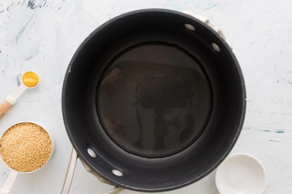 black pot with water in it